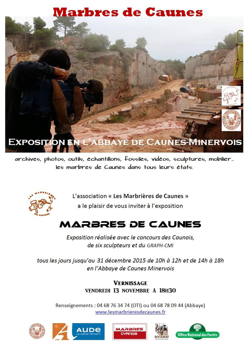 2015 Invitation Expo Marbres de Caunes